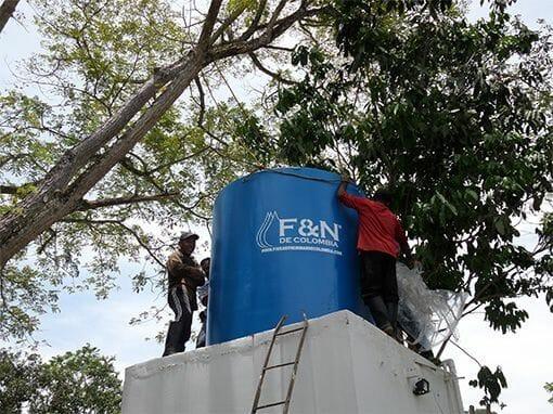Tanques de almacenamiento de agua