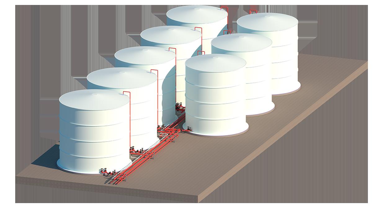 Tanque horizontal para industria alimentaria