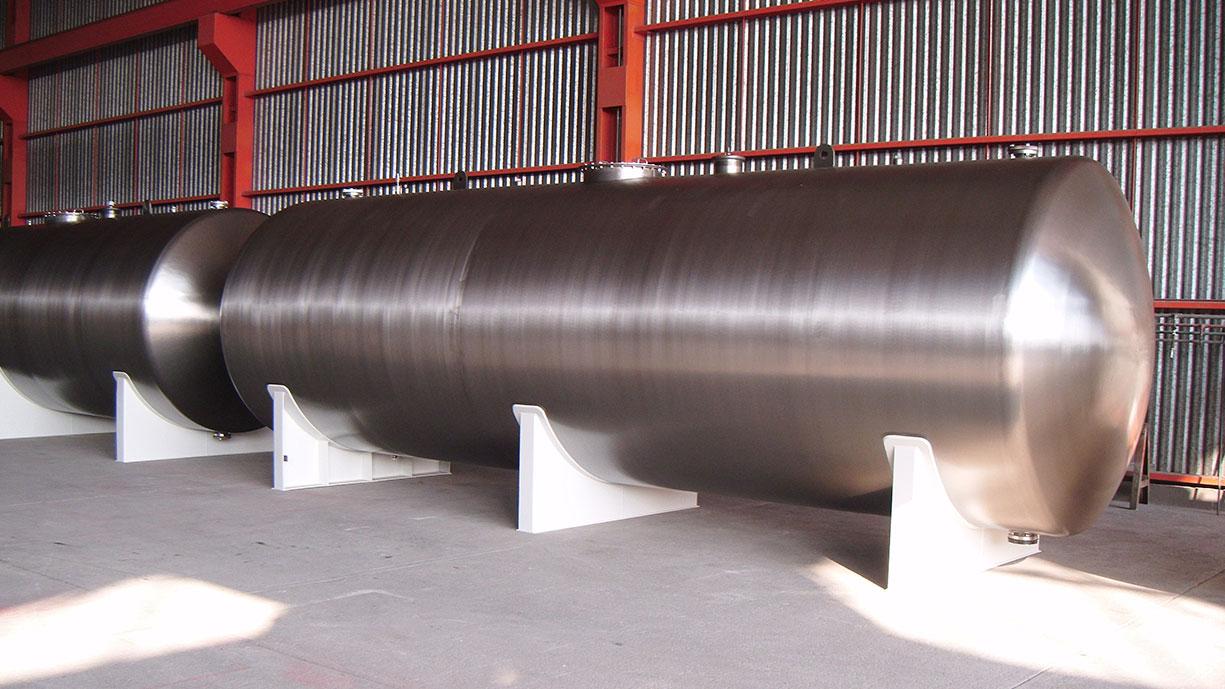 Tanques de almacenamiento horizontales para quimicos industriales